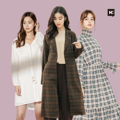 [時時樂]H:CONNECT 韓國品牌 女裝-精選韓系造型洋裝-三款