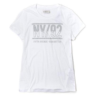 麋鹿 AF A&F 經典圖案設計短袖T恤(女)-白色