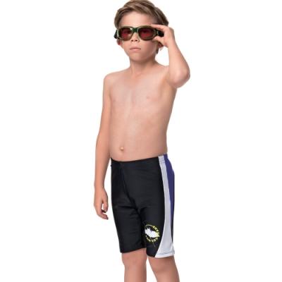 聖手牌 泳裝 白邊飾七分男童泳褲