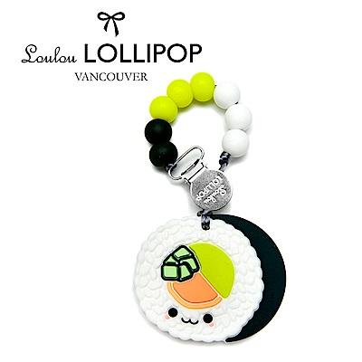 加拿大Loulou lollipop嬰幼兒酪梨壽司捲造型 固齒器組/奶嘴鍊夾