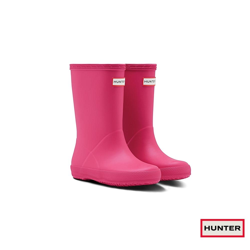 HUNTER - 童鞋 - 小童經典霧面短靴 - 粉紅