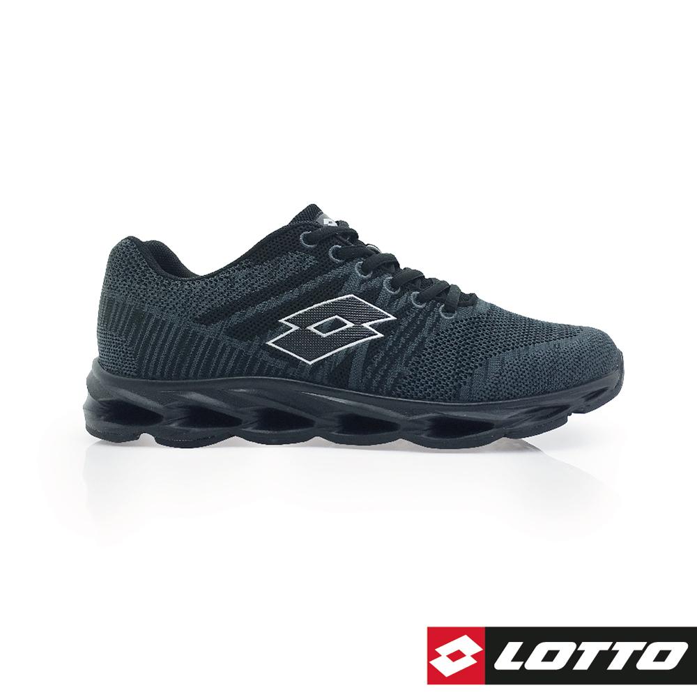 LOTTO 義大利 男 SUPER LITE輕量風動跑鞋 (黑)