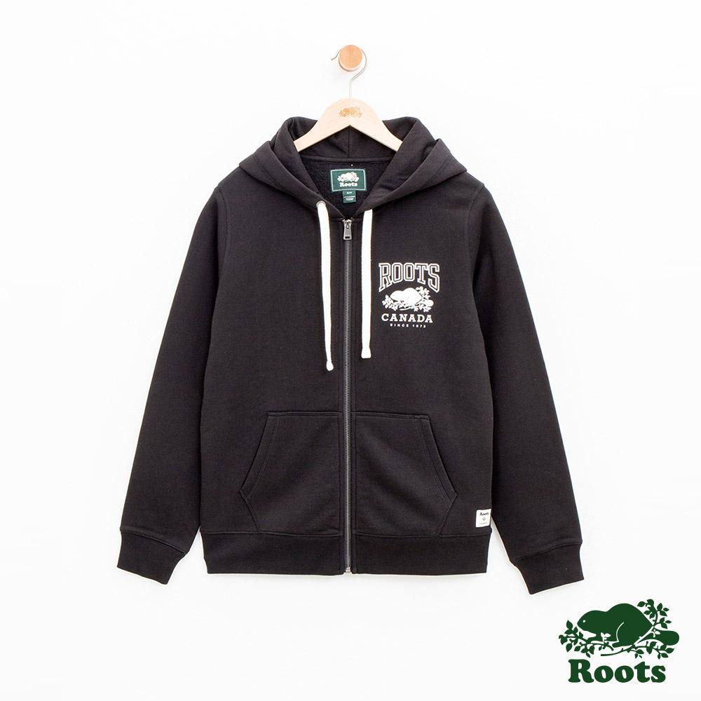 女裝Roots RBC連帽外套-黑