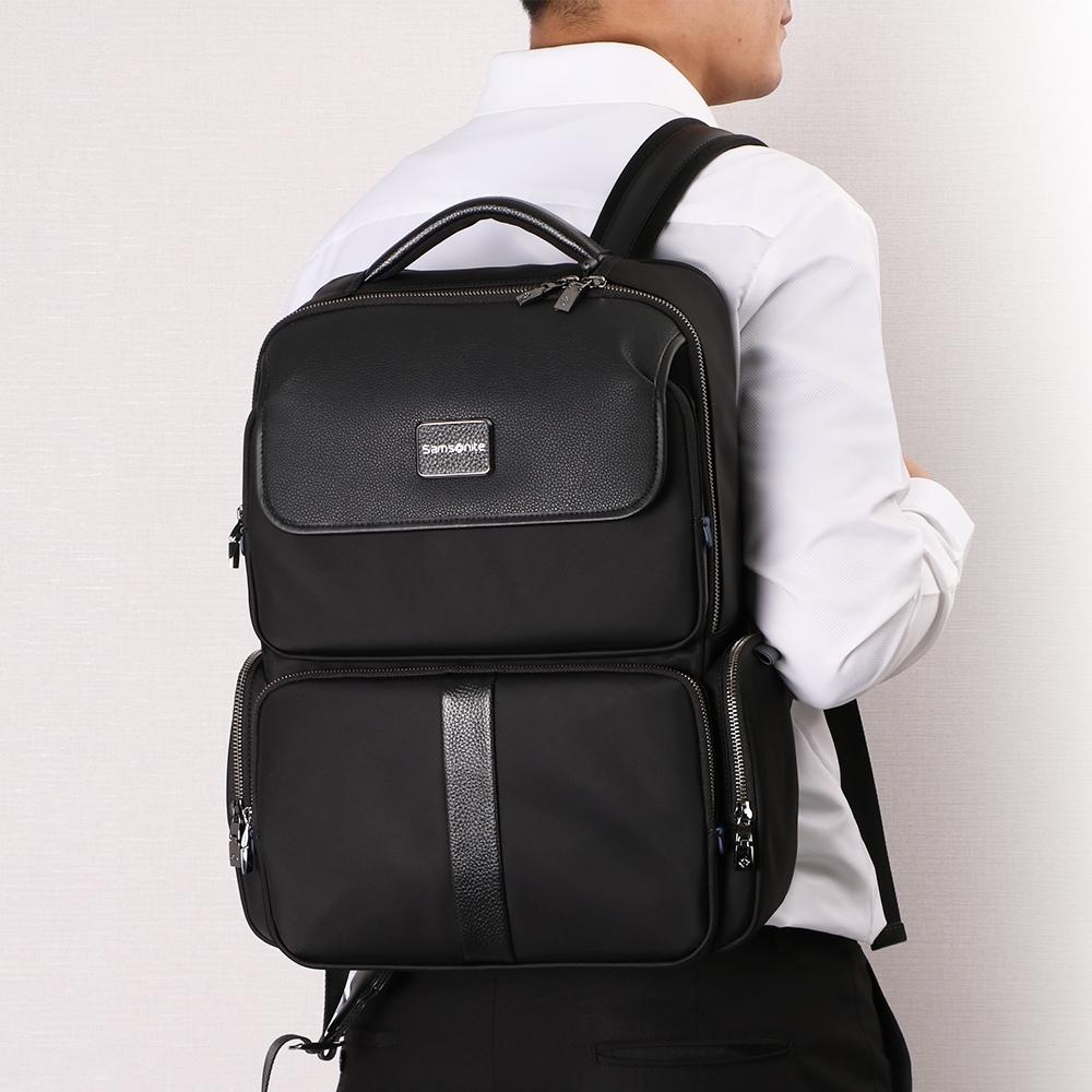 (6/1 10:00 ~6/21 10:00 送超贈點700) Samsonite新秀麗 Eric都市休閒多夾層筆電後背包 15.6