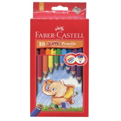 FABER-CASTELL 大六角色鉛筆 10色 111610