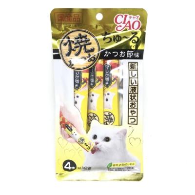 日本 CIAO 啾嚕鰹魚燒肉泥 4R-104 鰹魚風味 12g*4入