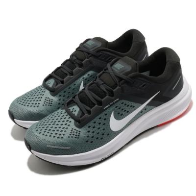 Nike 慢跑鞋 Zoom Structure 23 男鞋 氣墊 舒適 輕量 透氣 路跑 健身 黑 綠 CZ6720300