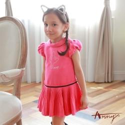 Annys可愛淘氣小小芭蕾女孩水鑽小百褶洋裝*7255粉