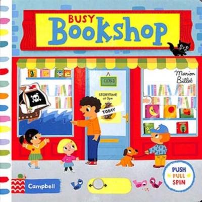 Busy Bookshop 人多的書店硬頁操作拉拉書