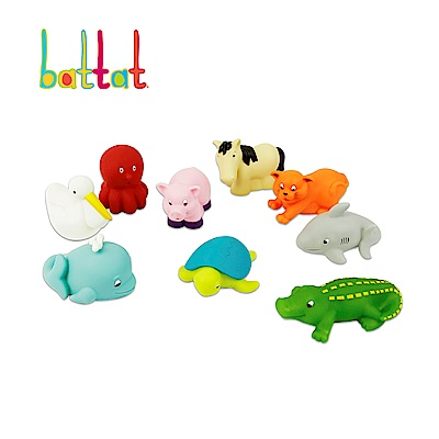 【B.Toys】烏龜與朋友們(9pcs)_Battat系列