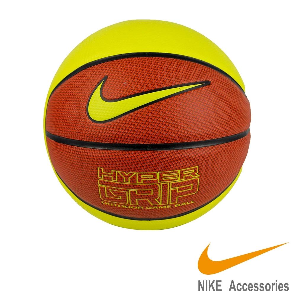 NIKE HYPER GRIP 四片皮籃球 7號球(黃)