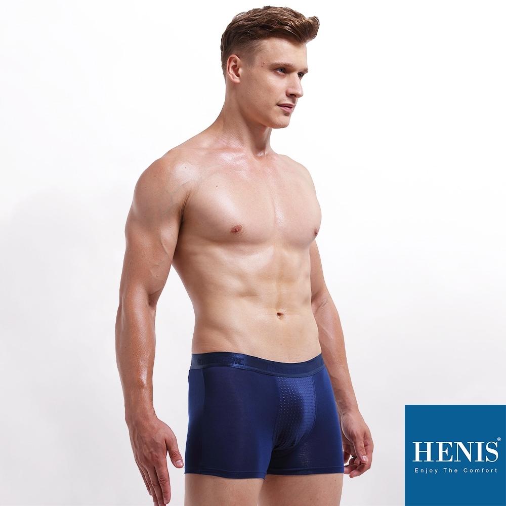 HENIS FORCE 磁石原力 透氣機能 能量四角褲 (寶藍)