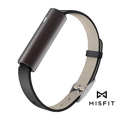 MISFIT  RAY時尚智能手環皮革款_金屬黑 (公司貨)