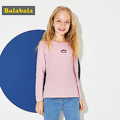 Balabala巴拉巴拉-玫瑰花朵刺繡圖案上衣-女(白色)