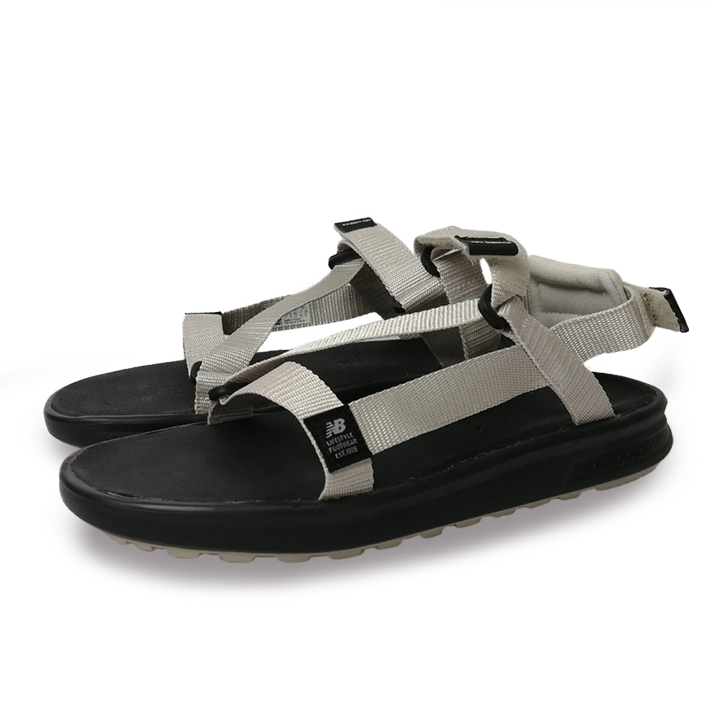 New Balance 涼拖鞋 基本款 魔鬼氈 男女鞋 淺灰 SDL850BWD