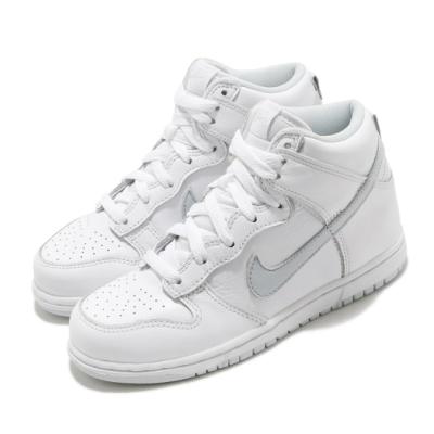 Nike 休閒鞋 Dunk High SP 運動 童鞋 基本款 高筒 簡約 舒適 中童 穿搭 白 灰 DC9053101