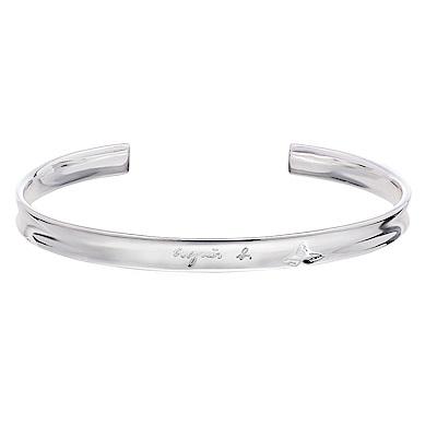 agnes b.品牌純銀手環(男/對環)