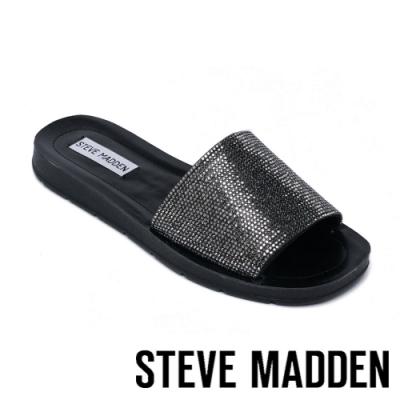STEVE MADDEN-HAFLA 休閒舒適鑽貼拖鞋-黑色