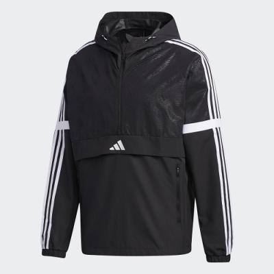 adidas 外套 運動 休閒 訓練 風衣 男款 黑 GF4048