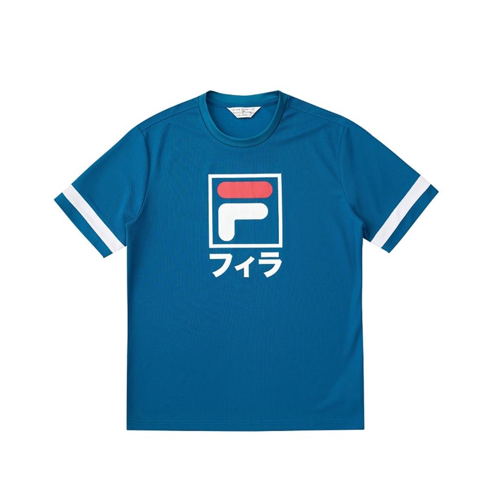 FILA #東京應援 短袖圓領T恤-藍 1TEV-5450-BU