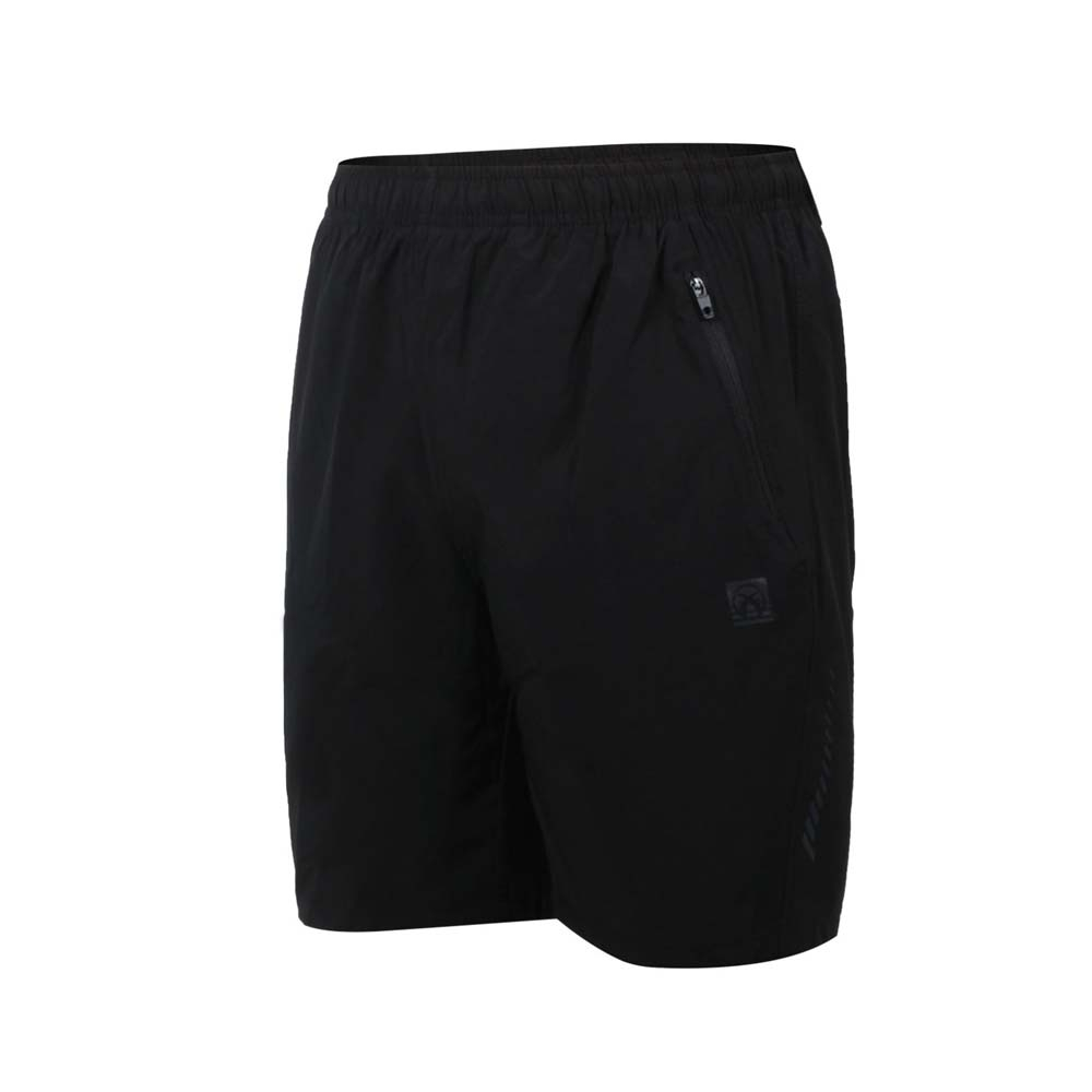 FIRESTAR 女彈性平織短褲-五分褲 運動 慢跑 路跑 炫彩反光 CL125-10 黑