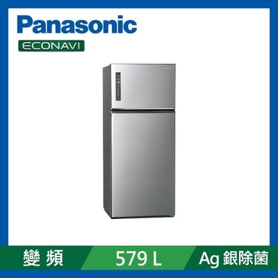 Panasonic國際牌 579L 雙門 變頻電冰箱 晶漾銀 NR-B581TV-S