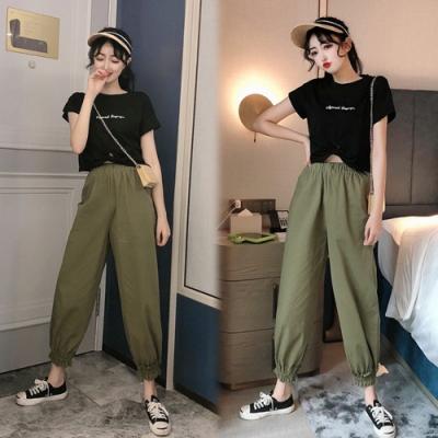 【韓國K.W.】(預購)嬌豔航線造成束口褲套裝-2色