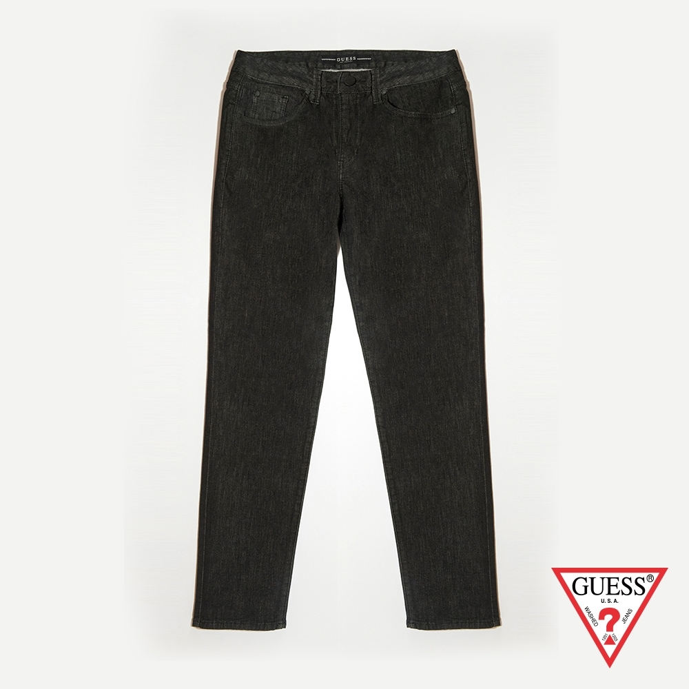 GUESS-男裝-經典素色牛仔褲-黑 原價5490