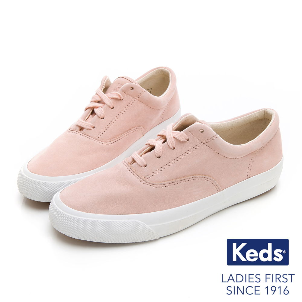 Keds ANCHOR 霧感復刻綁帶休閒鞋-粉橘 product image 1