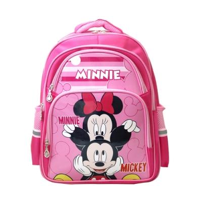 DF 童趣館 - 正版米奇米妮休閒多口袋護脊透氣兒童書包-共2色