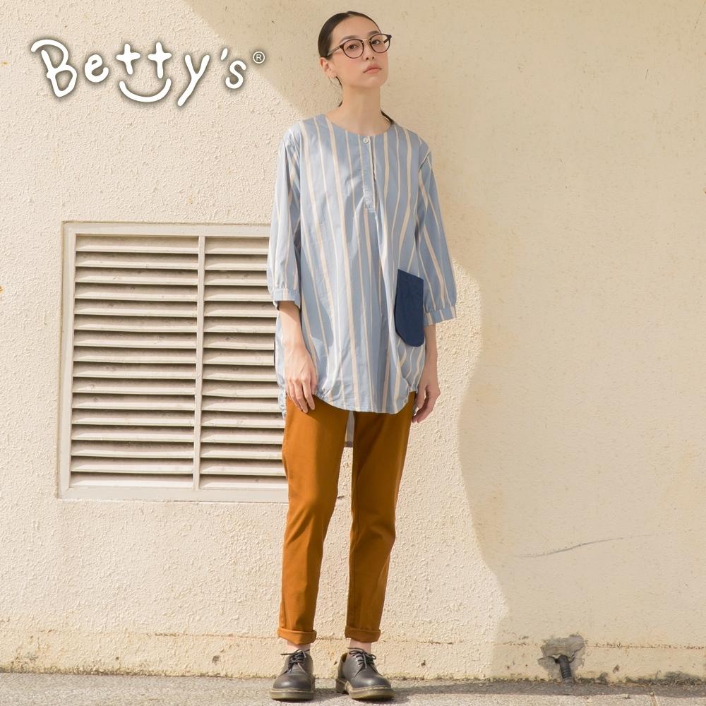 betty's貝蒂思 腰圍拼接素面長褲(駝色)