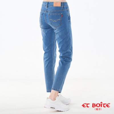 BLUE WAY ET BOiTE 箱子-基本款零著感男友褲(淺藍)