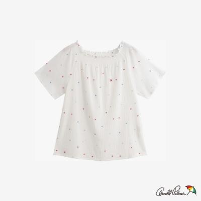 Arnold Palmer-女裝-圓點刺繡上衣-白