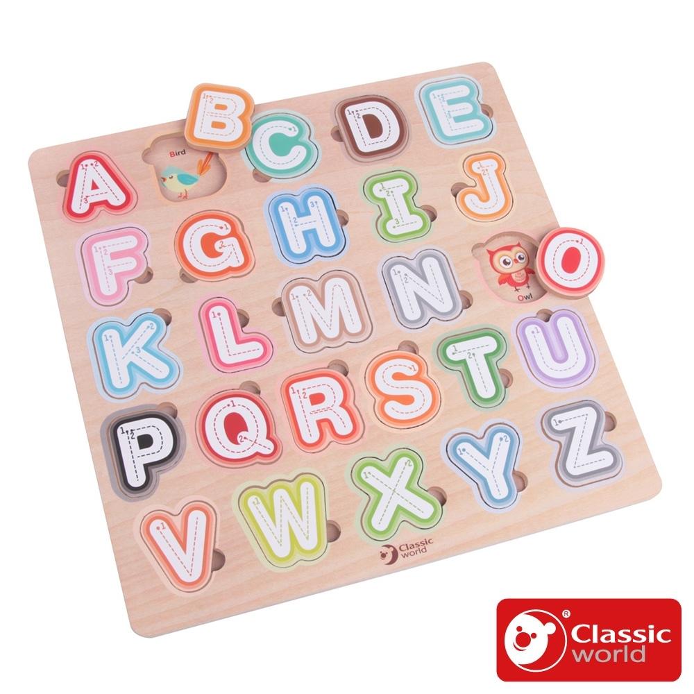 【德國 classic world 客來喜經典木玩】字母筆畫學習板《54426》