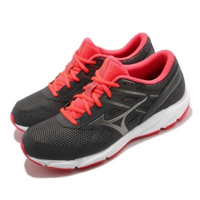 Mizuno 慢跑鞋 Spark 6 運動休閒 女鞋 美津濃 路跑 緩震 輕量 透氣 灰 紅 K1GA210449