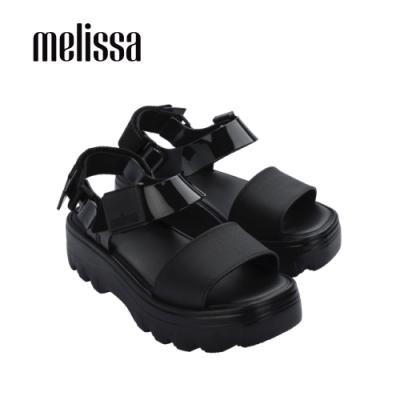 Melissa KICK OFF質感厚底涼鞋-黑
