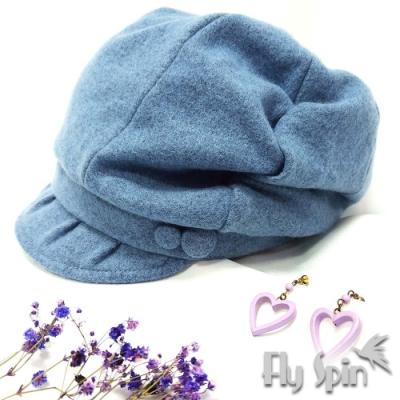 FLYSPIN秋冬保暖羊毛呢時尚南瓜貝雷帽