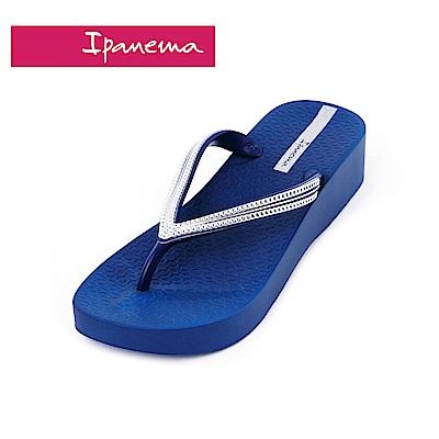IPANEMA MESH IV PLAT系列 厚底人字拖鞋-深藍色