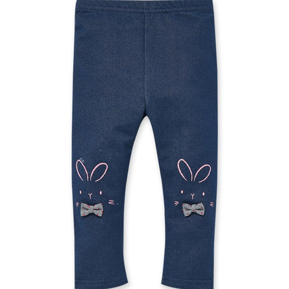les enphants baby小兔子蝴蝶牛仔褲-牛仔藍