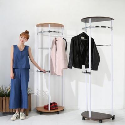佳美 (兩款任選)質感加大空間半圓型掛衣架(1入)吊衣架 衣架 曬衣架