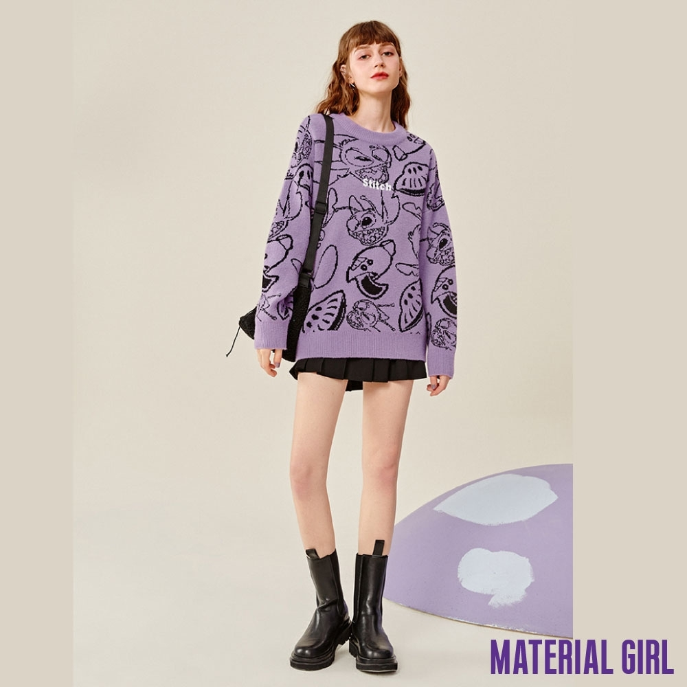 MATERIAL GIRL 史迪奇撞色針織上衣【冬季新品】-A4518