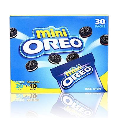 mini OREO 迷你奧利奧巧克力夾心餅乾分享組-香草+巧克力口味(690g)