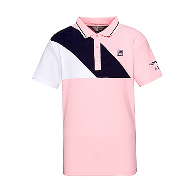 FILA 男款短袖 POLO 衫-粉色 1POT-1703-PK
