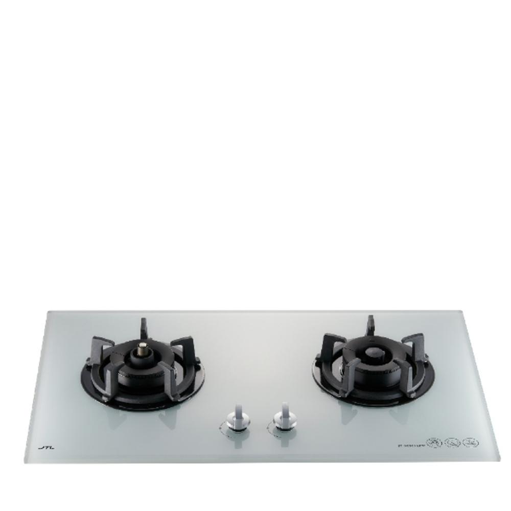(全省安裝)喜特麗二口爐檯面爐玻璃瓦斯爐桶裝瓦斯JT-GC209AFW_LPG