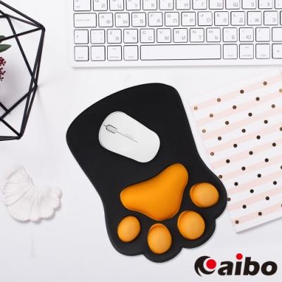 (時時樂)aibo Q彈3D立體貓掌 護腕滑鼠墊