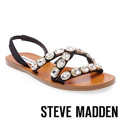 STEVE MADDEN-MARVEL 寶石鑲嵌綁帶涼鞋-黑色