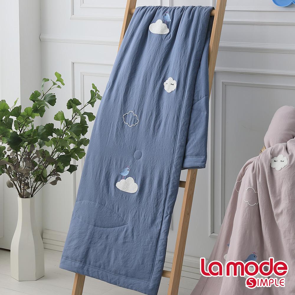 La Mode寢飾 森呼吸輕感綿單人涼被(天藍色)