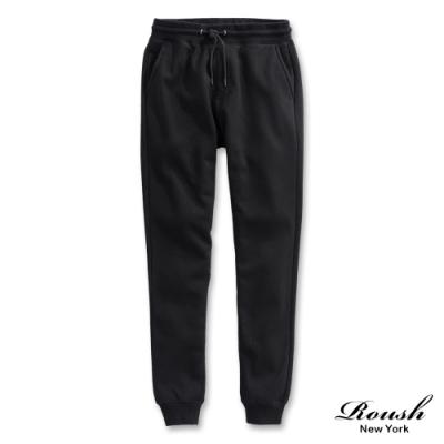 Roush 泰迪熊毛絨設計保暖棉質長褲(2色)