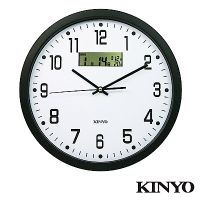 KINYO 14吋LCD顯示掛鐘(CL-151)