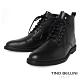 TINO BELLINI 男款牛皮極簡個性綁帶短筒軍靴 product thumbnail 1